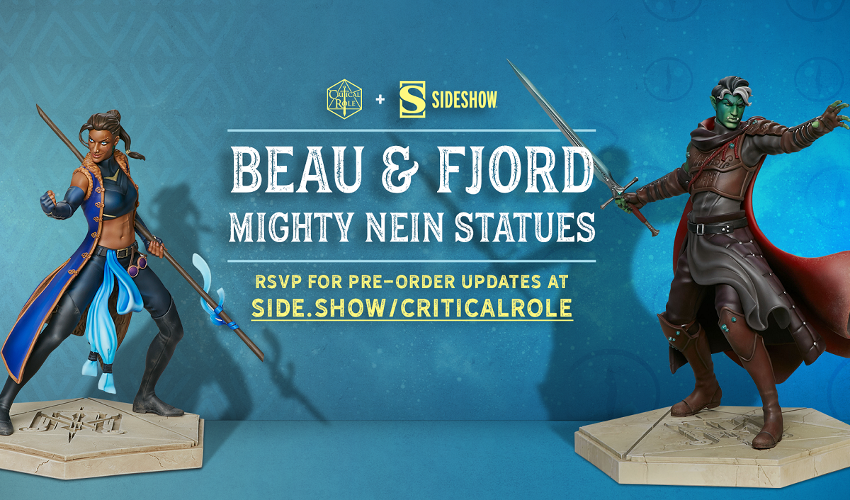Sideshow Teams With Critical Role To Create Licensed Character Collectibles