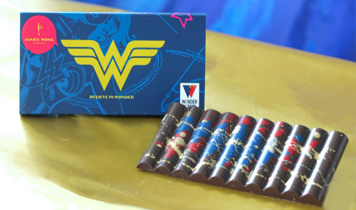 Warner Bros. CP, Confectioner Janice Wong to Launch Wonder Woman-Inspired Chocolate Bar