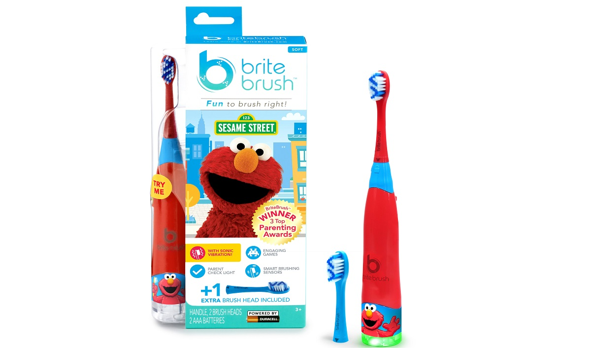 BriteBrush Unveils New Line with Sesame Street's Elmo Character