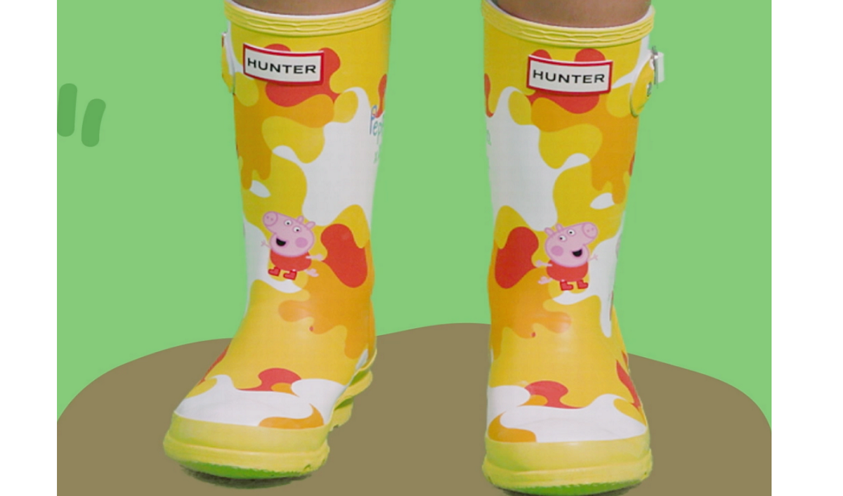 Hunter and Peppa Pig Tie Up on Second Limited-Edition Collection