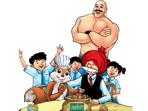 California Walnuts' Twiggy joins forces with Chacha Chaudhary