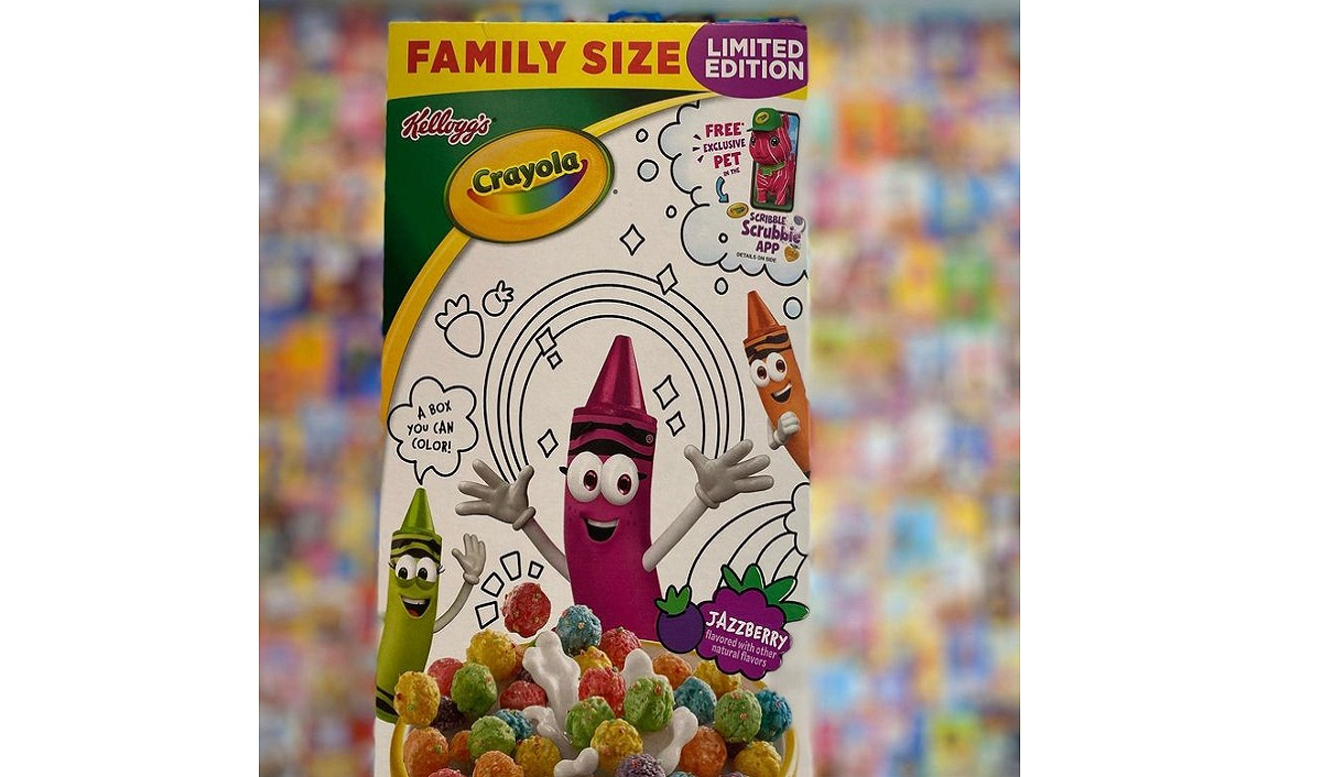 Kellogg, Crayola Collaborate to Create a Breakfast Cereal