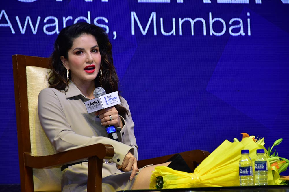 Bollywood actor Sunny Leone as one of the speakers at LABELS 2019
