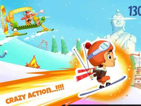Chhota Bheem up with Himalayan Adventure Skiing on Android