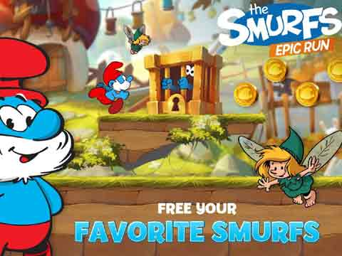 Smurfs make it to app store