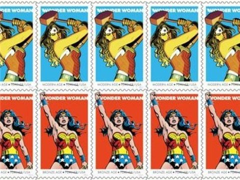 Wonder Woman gets her official stamps on 75th anniversary