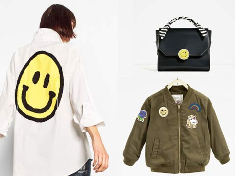 Zara teams with Smiley for winter collection
