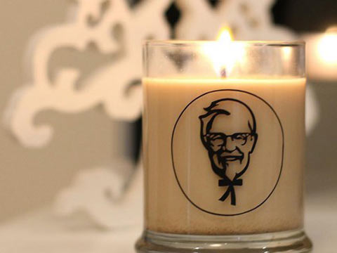 KFC designs limited edition chicken scented candles