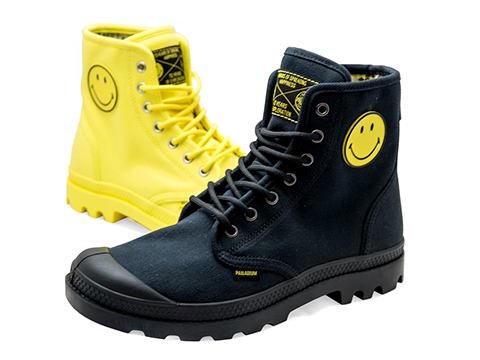 Smiley launches footwear with Palladium on 45th anniversary