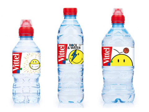 Smiley teams with Vittel for Smiley branded bottled water
