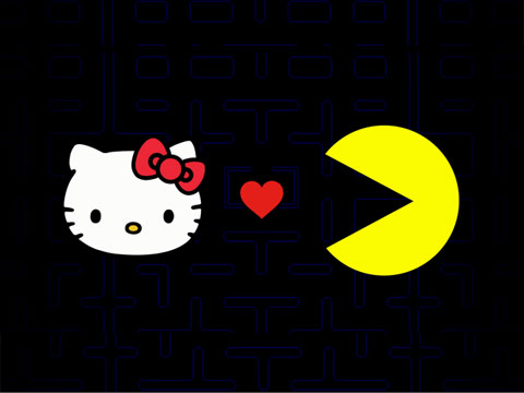 Hello Kitty befriends Pac-Man for capsule collection
