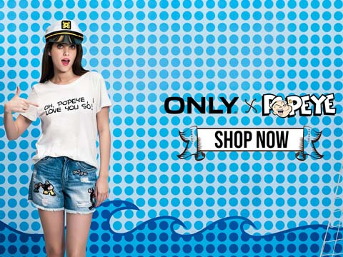 ONLY launches exclusive collection featuring King Feature's Popeye