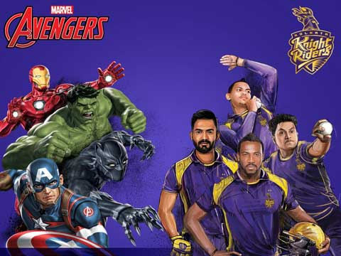 Marvel's Avengers & KKR launch special edition T-shirt collection