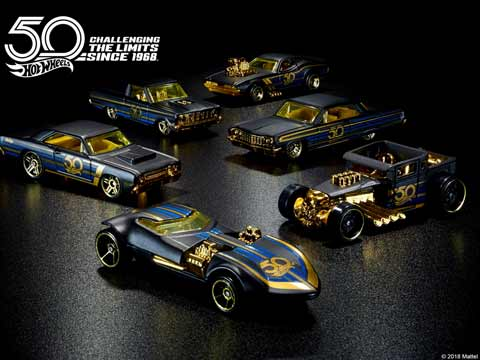 Hot Wheels launches special edition cars on 50th anniversary
