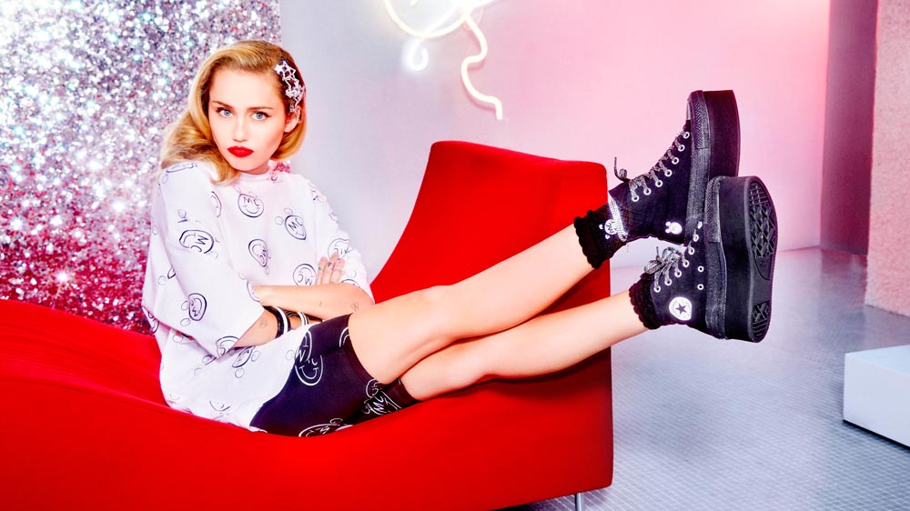 Converse unveils collection with Miley Cyrus