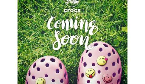 Smiley teams with Crocs for summer collection