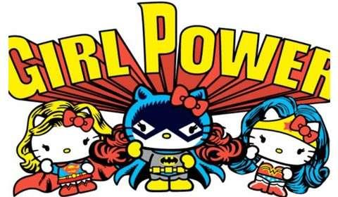 Hello Kitty takes on superman
