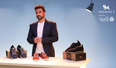 Comedian Vir Das front Neeman's latest campaign in partnership with The Woolmark Company to champion Merino wool's benefits in footwear