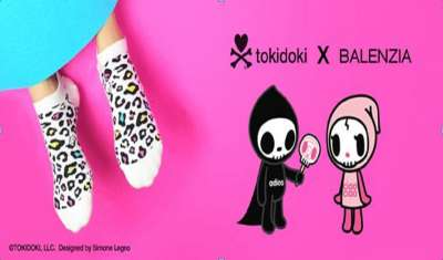 Balenzia, socks brand, presents yet another fascinating collaboration, tokidoki X Balenzia