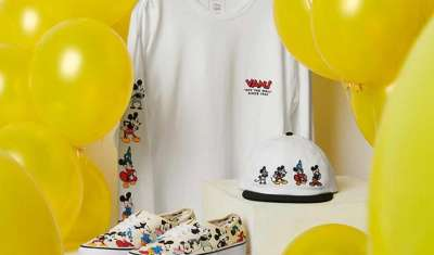 Mickey Mouse walks with Vans