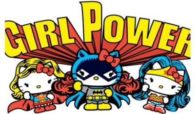 Hello Kitty takes on superman